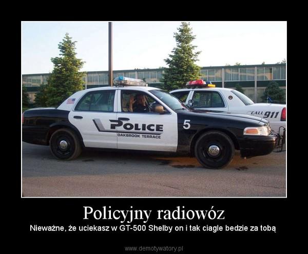 Policyjny radiowóz –  Nieważne, że uciekasz w GT-500 Shelby on i tak ciagle bedzie za tobą