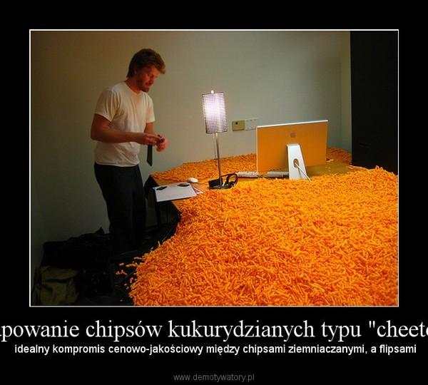 """Kupowanie chipsów kukurydzianych typu """"cheetos"""" –  idealny kompromis cenowo-jakościowy między chipsami ziemniaczanymi, a flipsami"""