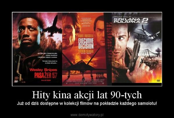 Hity kina akcji lat 90-tych – Już od dziś dostępne w kolekcji filmów na pokładzie każdego samolotu!