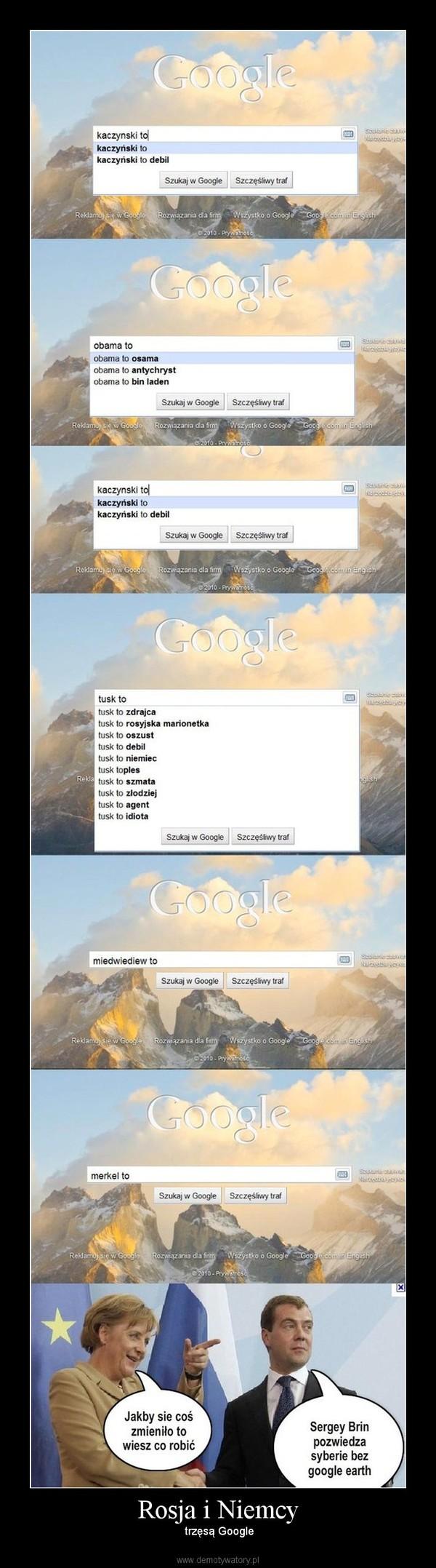 Rosja i Niemcy –  trzęsą Google
