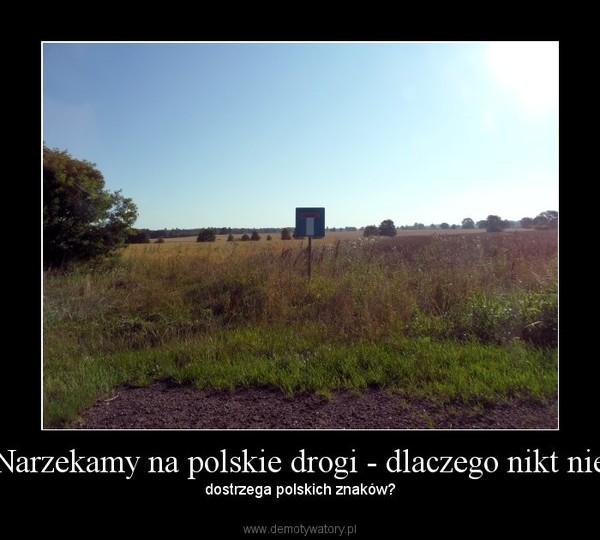 Narzekamy na polskie drogi - dlaczego nikt nie – dostrzega polskich znaków?
