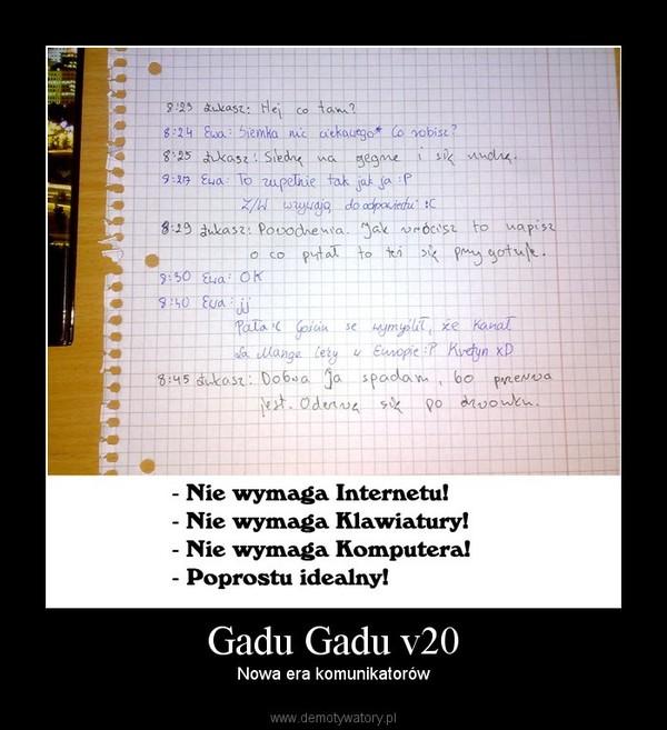Gadu Gadu v20 – Nowa era komunikatorów