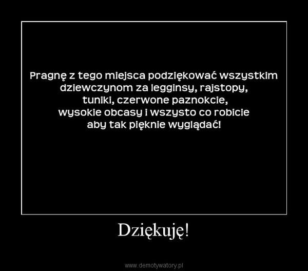 Dziękuję! –
