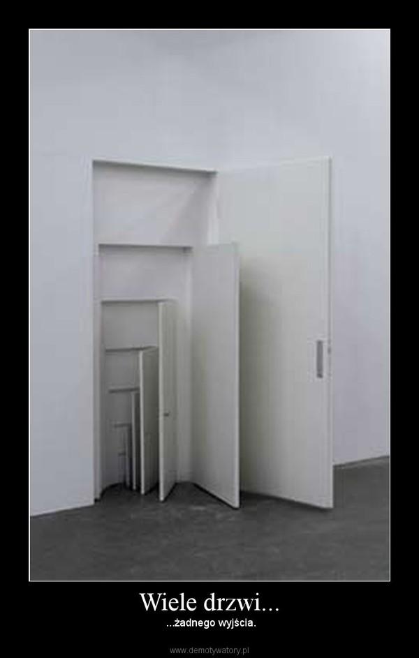 Wiele drzwi... – ...żadnego wyjścia.