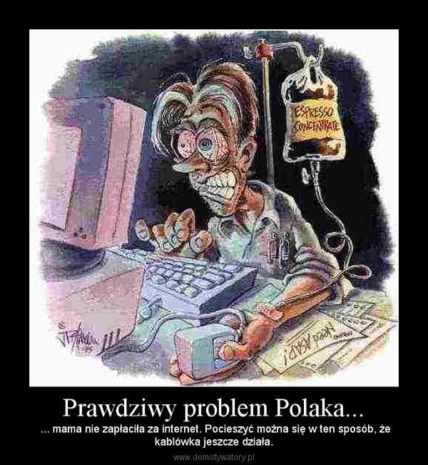 Prawdziwy problem Polaka... – ... mama nie zapłaciła za internet. Pocieszyć można się w ten sposób, żekablówka jeszcze działa.