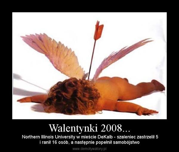 Walentynki 2008... – Northern Illinois University w mieście DeKalb - szaleniec zastrzelił 5i ranił 16 osób, a następnie popełnił samobójstwo