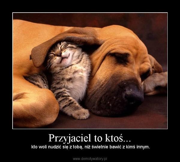 Przyjaciel to ktoś... – kto woli nudzić się z tobą, niż świetnie bawić z kimś innym.