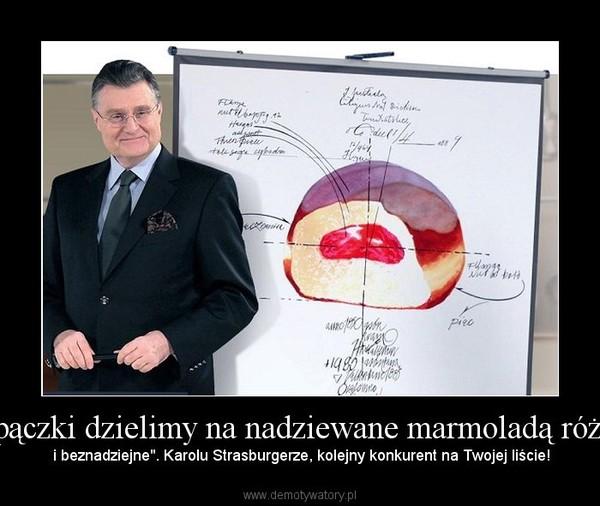 """""""A pączki dzielimy na nadziewane marmoladą różaną – i beznadziejne"""". Karolu Strasburgerze, kolejny konkurent na Twojej liście!"""