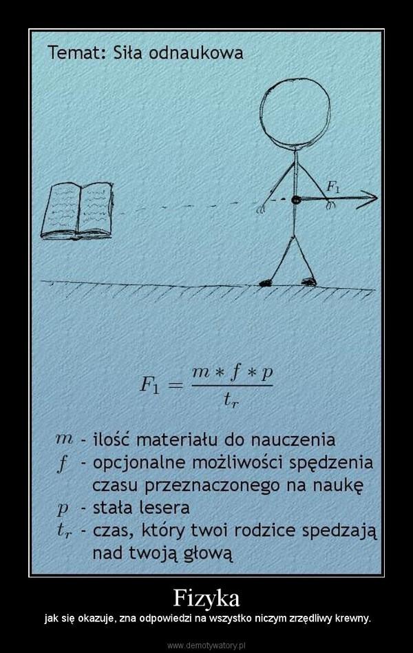 Fizyka – jak się okazuje, zna odpowiedzi na wszystko niczym zrzędliwy krewny.