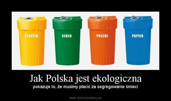 Jak Polska jest ekologiczna – pokazuje to, że musimy płacić za segregowanie śmieci