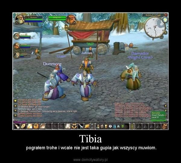 Tibia – pograłem trohe i wcale nie jest taka gupia jak wszyscy muwiom.