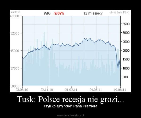 """Tusk: Polsce recesja nie grozi... – czyli kolejny """"cud"""" Pana Premiera"""