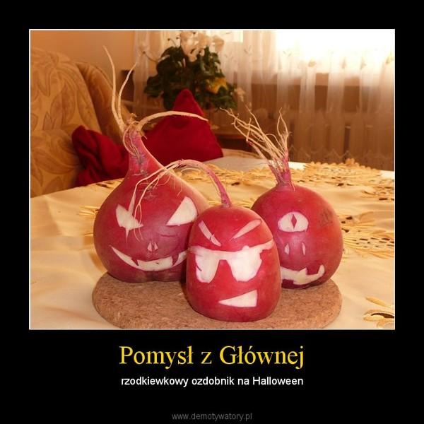 Pomysł z Głównej – rzodkiewkowy ozdobnik na Halloween