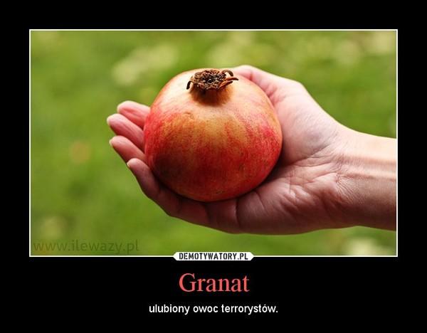 Granat – ulubiony owoc terrorystów.