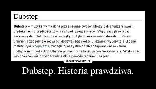 Dubstep. Historia prawdziwa. –
