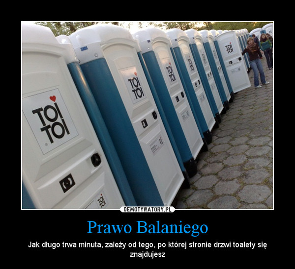 Prawo Balaniego – Jak długo trwa minuta, zależy od tego, po której stronie drzwi toalety się znajdujesz
