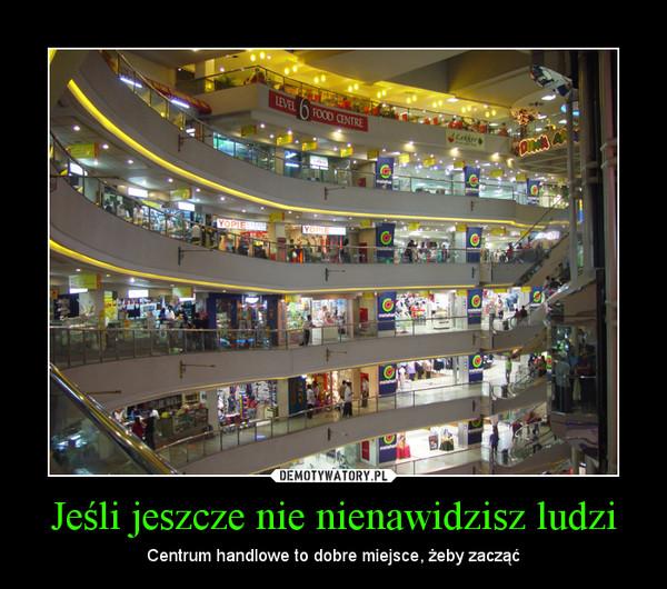 Jeśli jeszcze nie nienawidzisz ludzi – Centrum handlowe to dobre miejsce, żeby zacząć