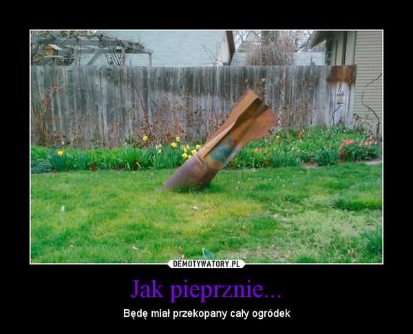 Jak pieprznie... – Będę miał przekopany cały ogródek