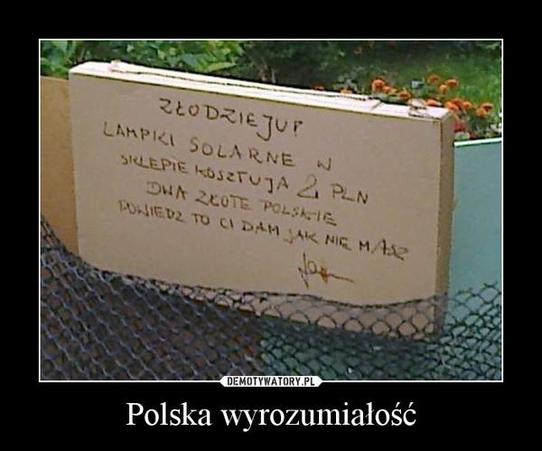 Polska wyrozumiałość –