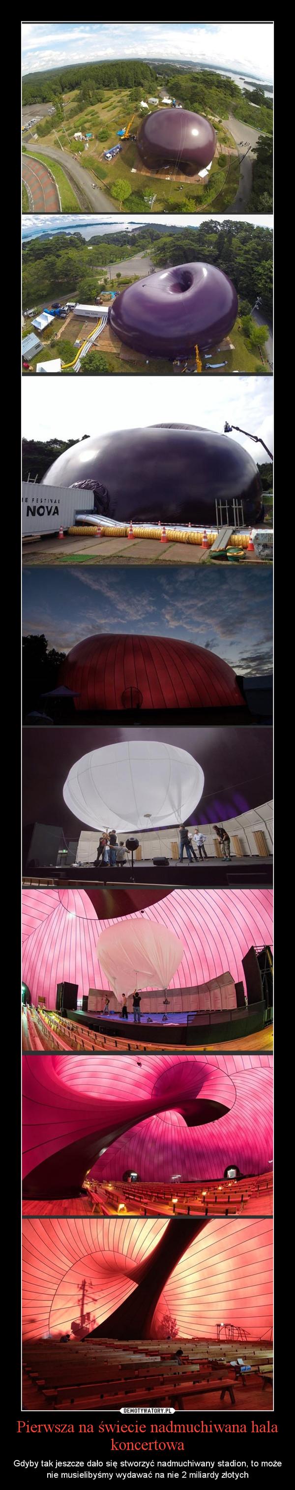 Pierwsza na świecie nadmuchiwana hala koncertowa – Gdyby tak jeszcze dało się stworzyć nadmuchiwany stadion, to może nie musielibyśmy wydawać na nie 2 miliardy złotych