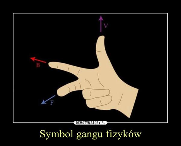Symbol gangu fizyków –