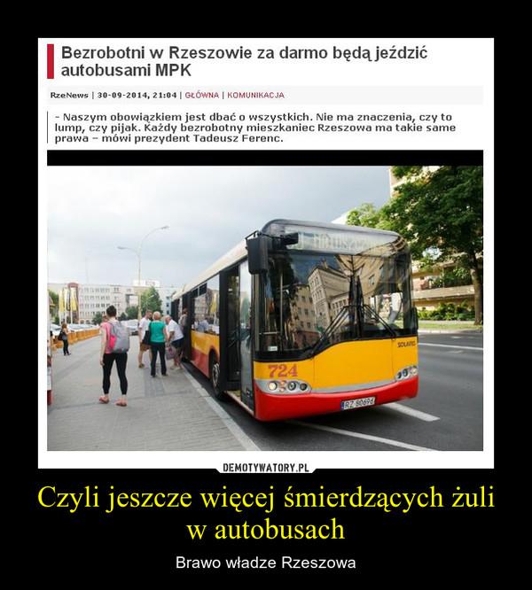 Czyli jeszcze więcej śmierdzących żuli w autobusach – Brawo władze Rzeszowa