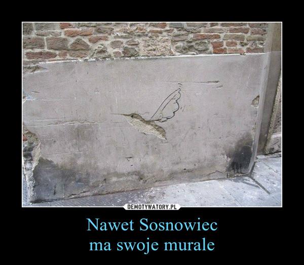 Nawet Sosnowiecma swoje murale –