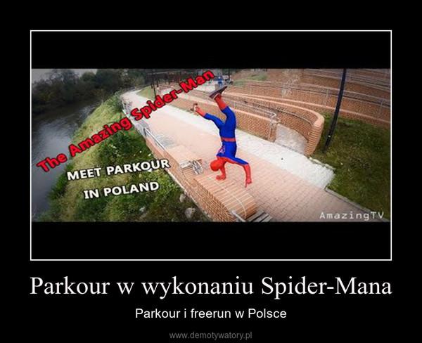 Parkour w wykonaniu Spider-Mana – Parkour i freerun w Polsce