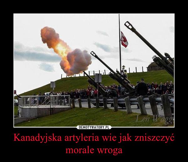 Kanadyjska artyleria wie jak zniszczyć morale wroga –