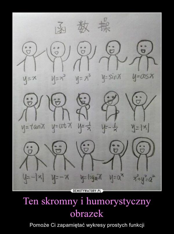 Ten skromny i humorystyczny obrazek – Pomoże Ci zapamiętać wykresy prostych funkcji