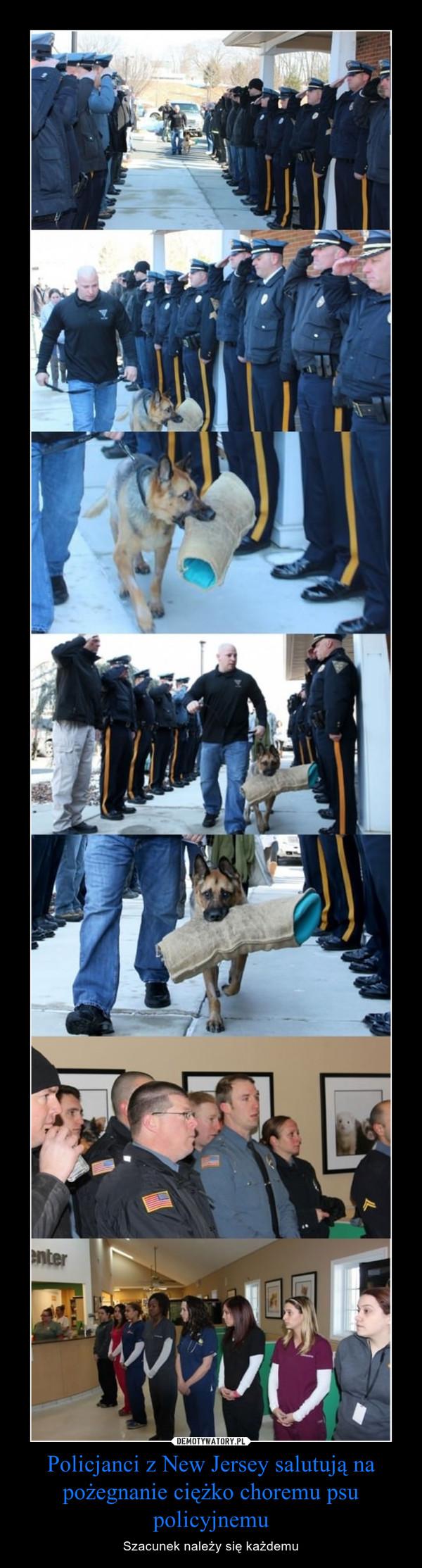 Policjanci z New Jersey salutują na pożegnanie ciężko choremu psu policyjnemu – Szacunek należy się każdemu