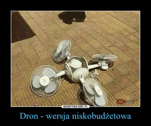 Dron - wersja niskobudżetowa –