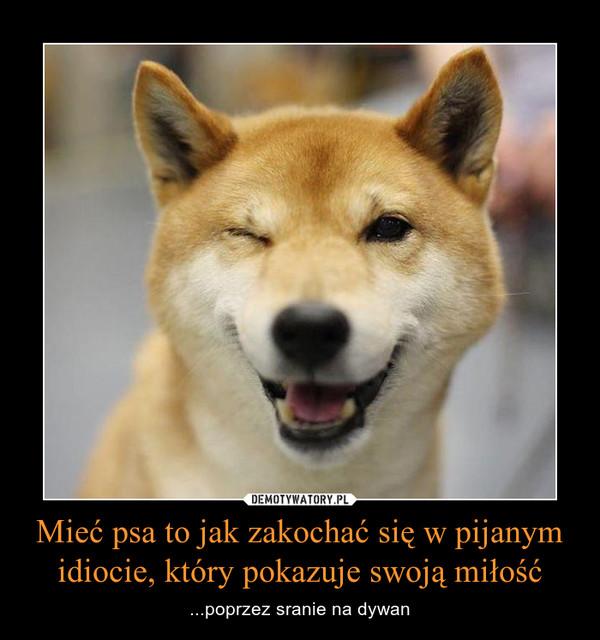 Mieć psa to jak zakochać się w pijanym idiocie, który pokazuje swoją miłość – ...poprzez sranie na dywan
