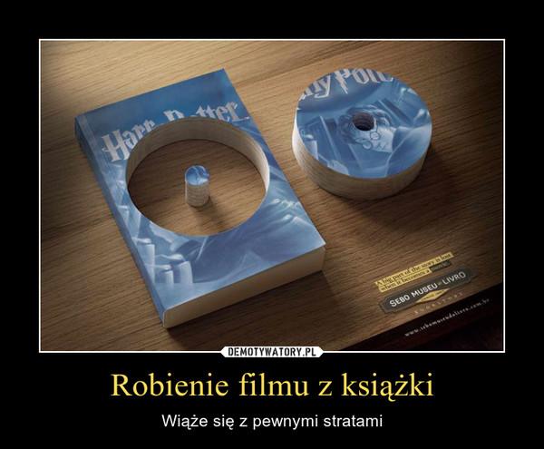 Robienie filmu z książki – Wiąże się z pewnymi stratami