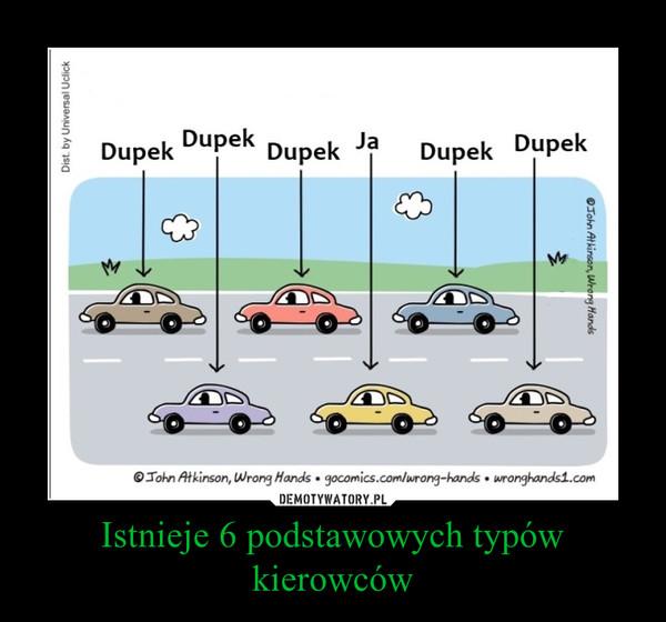 Istnieje 6 podstawowych typów kierowców –