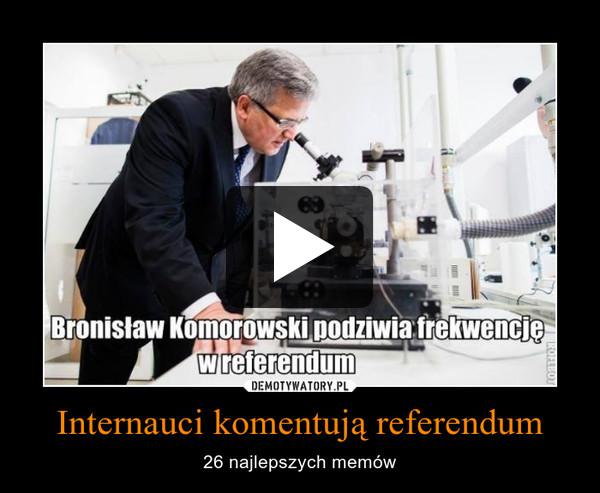 Internauci komentują referendum – 26 najlepszych memów
