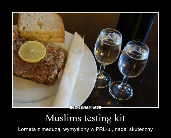 Muslims testing kit – Lorneta z meduzą, wymyślony w PRL-u , nadal skuteczny