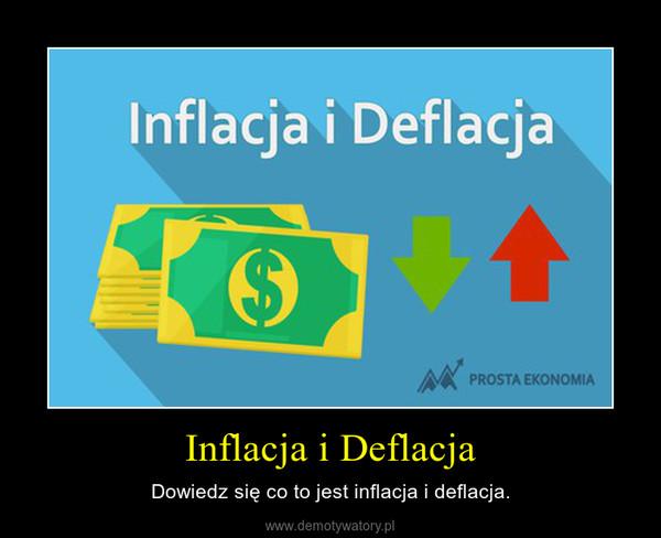 Inflacja i Deflacja – Dowiedz się co to jest inflacja i deflacja.