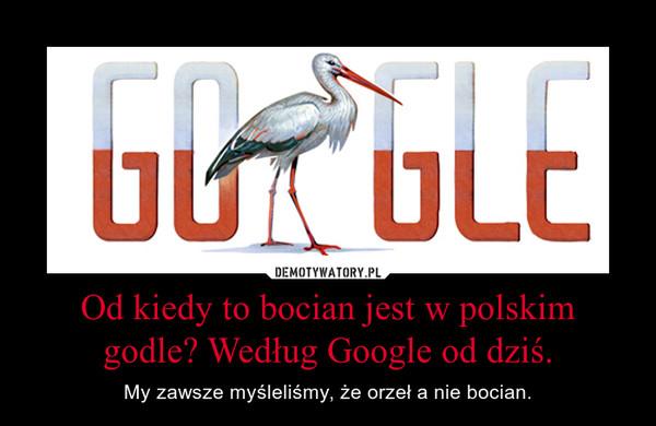 Od kiedy to bocian jest w polskim godle? Według Google od dziś. – My zawsze myśleliśmy, że orzeł a nie bocian.