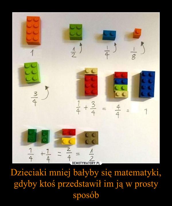Dzieciaki mniej bałyby się matematyki, gdyby ktoś przedstawił im ją w prosty sposób –