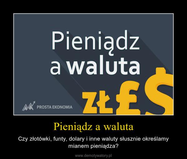 Pieniądz a waluta – Czy złotówki, funty, dolary i inne waluty słusznie określamy mianem pieniądza?