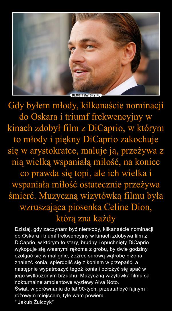 """Gdy byłem młody, kilkanaście nominacji do Oskara i triumf frekwencyjny w kinach zdobył film z DiCaprio, w którym to młody i piękny DiCaprio zakochuje się w arystokratce, maluje ją, przeżywa z nią wielką wspaniałą miłość, na koniec co prawda się topi, ale  – Dzisiaj, gdy zaczynam być niemłody, kilkanaście nominacji do Oskara i triumf frekwencyjny w kinach zdobywa film z DiCaprio, w którym to stary, brudny i opuchnięty DiCaprio wykopuje się własnymi rękoma z grobu, by dwie godziny czołgać się w malignie, zeżreć surową wątrobę bizona, znaleźć konia, spierdolić się z koniem w przepaść, a następnie wypatroszyć tegoż konia i położyć się spać w jego wyflaczonym brzuchu. Muzyczną wizytówką filmu są nokturnalne ambientowe wyziewy Alva Noto.Świat, w porównaniu do lat 90-tych, przestał być fajnym i różowym miejscem, tyle wam powiem."""" Jakub Żulczyk"""""""