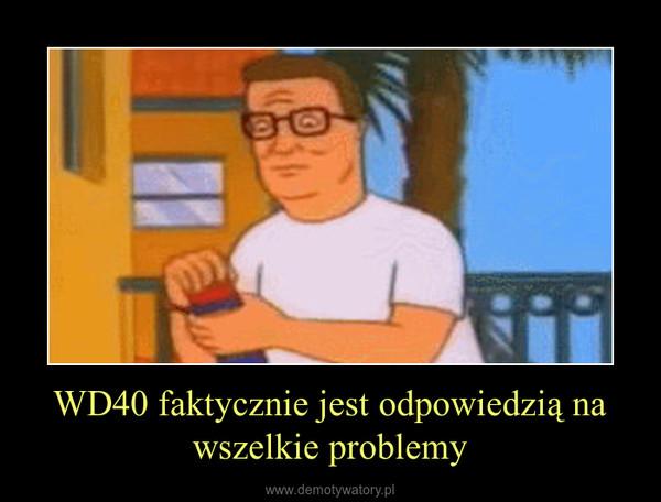 WD40 faktycznie jest odpowiedzią na wszelkie problemy –