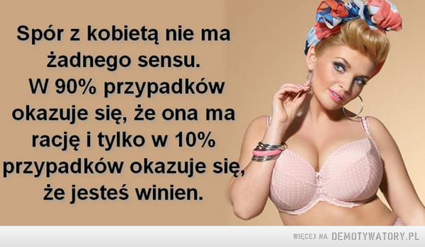 Spór z kobietą... –
