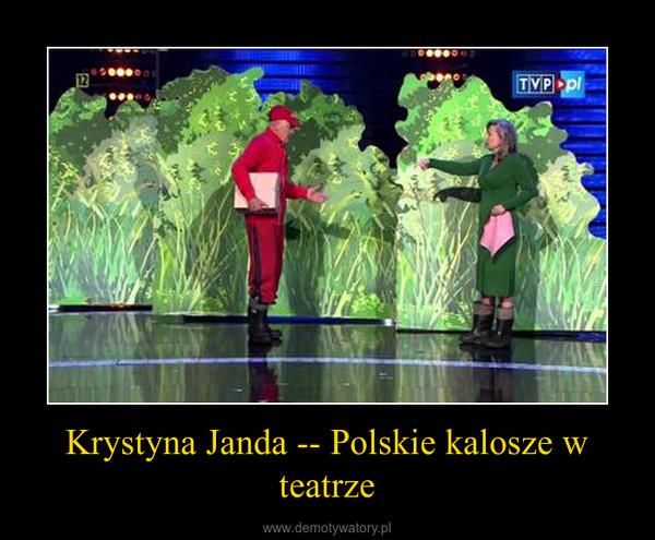 Krystyna Janda -- Polskie kalosze w teatrze –