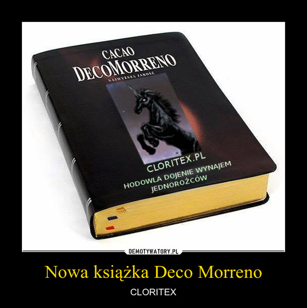 Nowa książka Deco Morreno – CLORITEX