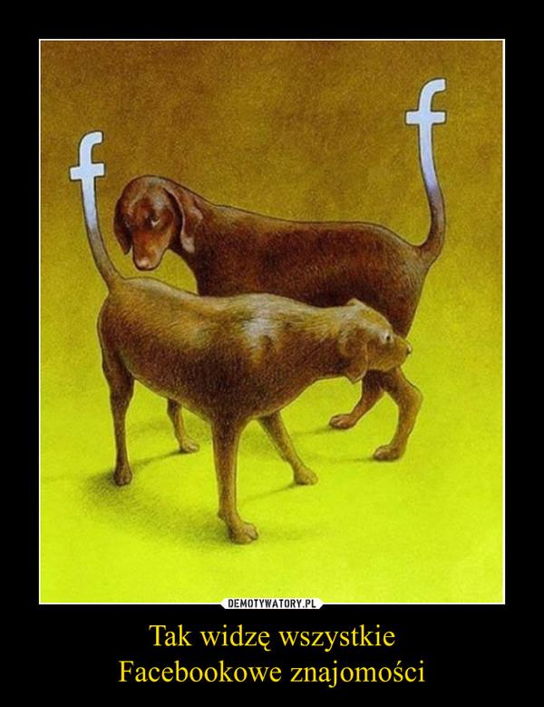 Tak widzę wszystkieFacebookowe znajomości –
