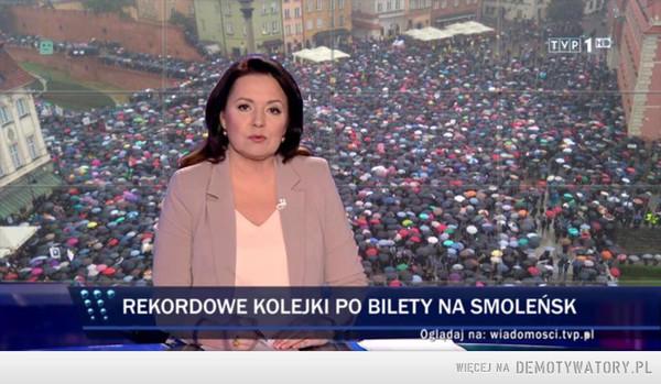 Tymczasem w Wiadomościach TVP –