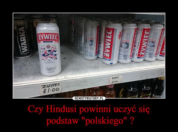 """Czy Hindusi powinni uczyć się podstaw """"polskiego"""" ? –"""