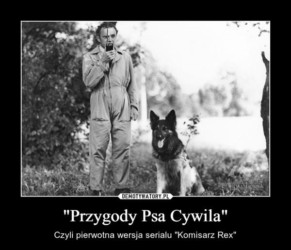 """""""Przygody Psa Cywila"""" – Czyli pierwotna wersja serialu """"Komisarz Rex"""""""
